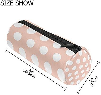 Bennigiry - Estuche para lápices, diseño de lunares, color rosa: Amazon.es: Oficina y papelería