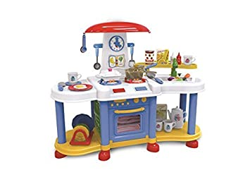 Vinsani Blue Little Kitchen Food Cooking Gas Oven Appliances Toy Pretend  Play Set By Vinsani