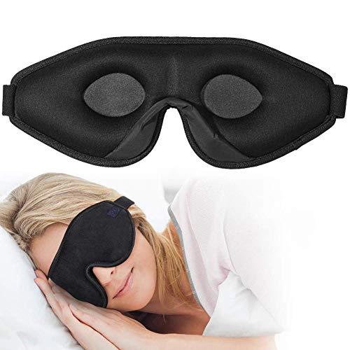 OriHea 3D Schlafmaske Damen und Herren,Premium Schlafbrille mit Innovativem verstecktem Nasenflügel-Design, Blockiert Licht 100% Augenmaske, verstellbare Premium Seiden Schaum Augenbinde