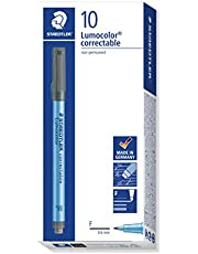 Lumocolor Correctable Pen Fine Point Black-Pack of 10