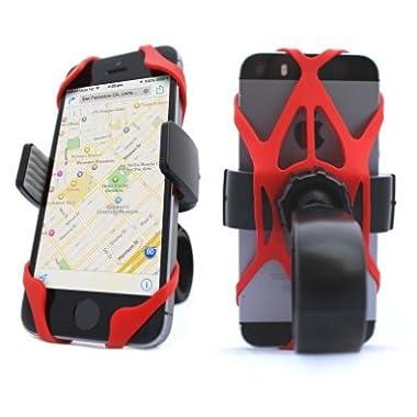 Vibrelli Universal Bike Phone Mount Holder. Fits any Smart Phone: iPhone 7, 7 Plus, 6 Plus, 6S, 5S, 5, 4. Bike Mount for Samsung Galaxy S5/S4/S3, Google Nexus, Nokia, Motorola. Bicycle Handlebar (& Motorcycle) Compatible Cell Phone Cradle