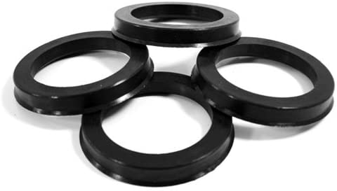 PROMOTORING For 70.50 MM ID x 72.62 MM OD - POLYCARBONATE HUB CENTRIC RINGS - SET OF 4