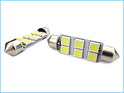 24V Lampada Led Siluro T11 C5W 41mm 6 Smd 5050 Bianco Camion