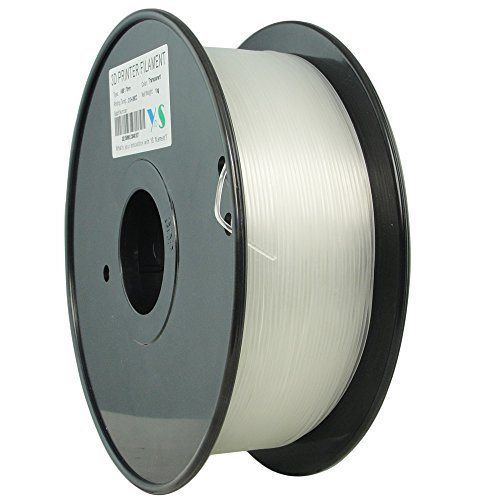 YS Filament ys-1.75-abs-t-1000ys sans nœuds 3D Filament, ABS 1,75mm, 1kg, diamètre précis de contrôle, transparent