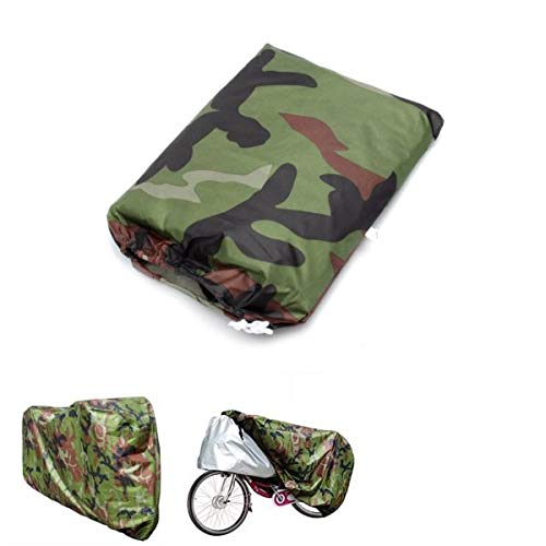 Camouflage Waterproof Rain Cover Bicycle Bike Motorcycle Electric Scooter 200x70x110cm/79x28x43in - Body & Frame Motorcycle Cover - 1 X Bicycle Cover, 1 X Storage Bag,