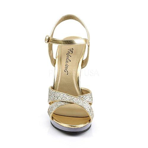 Heels Or peep toe Gold Escarpins femme Higher 8aqp0q