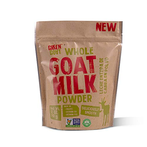 GREEN GOAT Whole Goat Milk Powder, 12 OZ