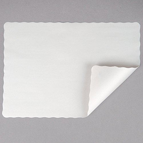 Off-White Colored Paper Placemat with Scalloped Edge - 1000/Case Size: 10