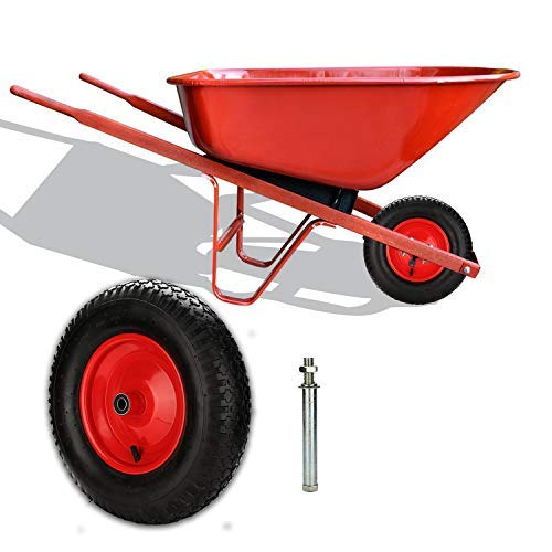 400mm 4.80//4.00-8 Schubkarrenrad Gummirad PU Rad Solid Wheelbarrow Trolley np