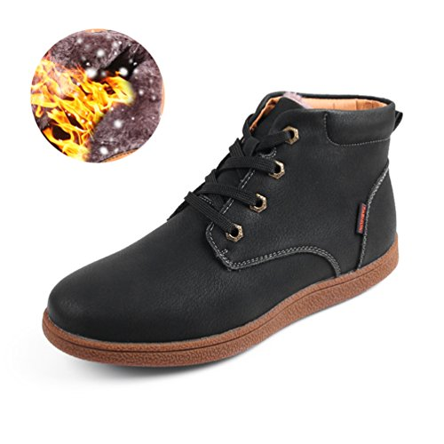 Sherry Love Men's Waterproof Snow Boots Hiking Boot Ankle Chukka Boots Classic Type -Black-40 EUR by Sherry Love