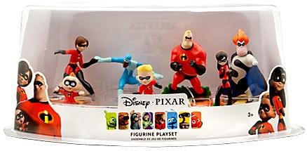 Disney Incredibles Toys (Disney / Pixar The Incredibles Exclusive 7 Piece Deluxe PVC Figurine Playset)