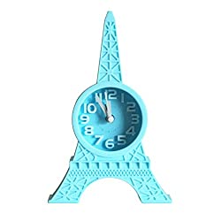Fashion Eiffel Tower Tabletop Alarm Standing Clock Home Office Decoration Gift
