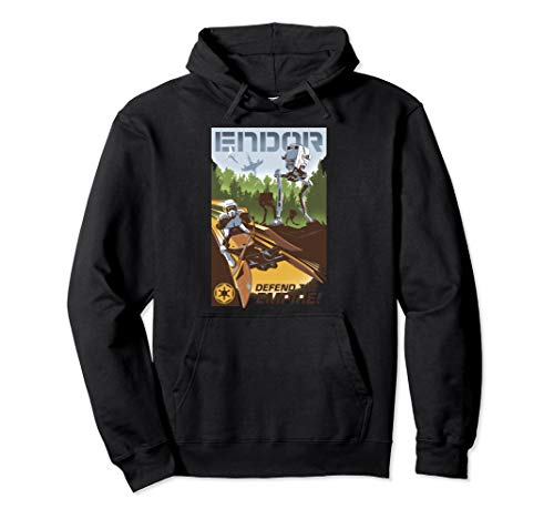 Star Wars Endor Defend The Empire Collage Poster Pullover Hoodie