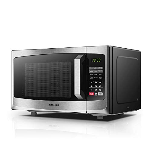 Toshiba Microwave Oven ML-EM23P(SS) 23L Digital Display 800W, Auto Defrost, One-touch Express Cook with 6 Pre-Programmed Auto Cook, Solo Microwave Oven Easy to Clean - Stainless Steel
