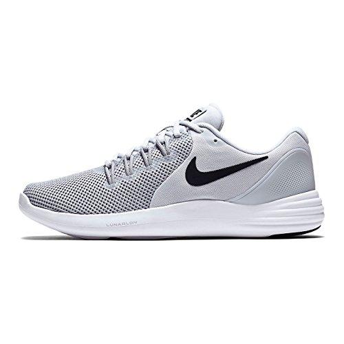 Nike Hommes Lunaire Chaussure De Course Apparent Pur Loup Noir Platine Gris Froid