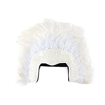 Zucker Feather Products White Coque Feather Headdress with Sequins