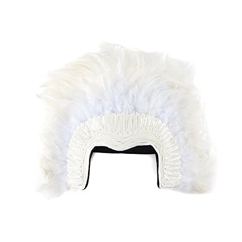 Dance Costumes With Feathers (Zucker Feather (TM) - Coque Feather Headdress w/Sequins - White)