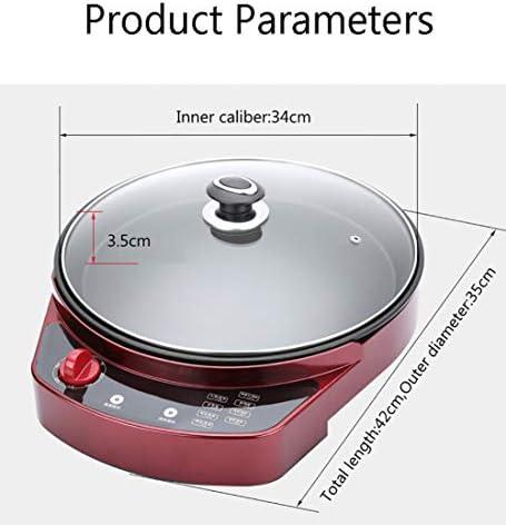 LXVY Barbecue sans fumée Portable Grill Cuisson Pan Plaque de Cuisson antiadhésif Barbecue Poêle Machine Convient pour réunion de Famille