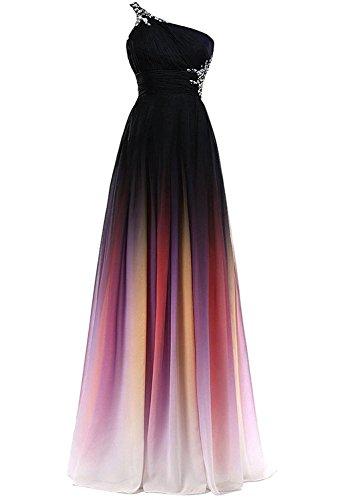 Ein Blau glaenzende Abendkleider Charmant Rosa Dunkel Neu Ballkleider 2018 mit Steine Schulter Damen Sommer XXI1q
