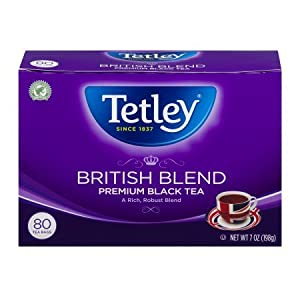 Tetley British Blend Premium Black, 80-Count Tea Bags, 7 Ounce, (Pack of 6) from Tetley