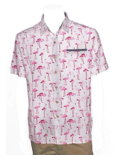 Elvis Presley Blue Hawaii Floral Print Shirt (Pink, Large) ()
