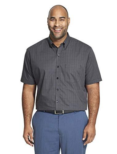 - Van Heusen Men's Big and Tall Flex Short Sleeve Button Down Check Shirt, Black, 2X-Large Tall