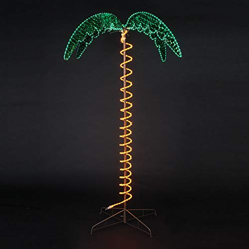 (Roman Lights Ropelight Palm Tree 7' Tall, Indoor and Outdoor Use)