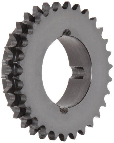 Tsubaki D40BTL30 Roller Chain Sprocket, Double Strand, Taperlock Design, 2012 Bushing Required, 30 Teeth, 20 ANSI No, 1/2