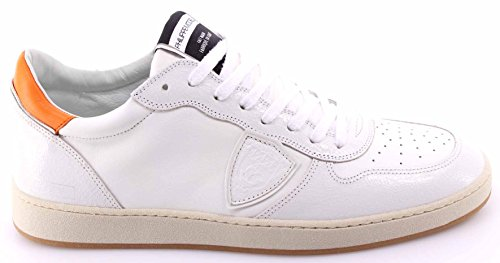Zapatos Sneakers Hombre PHILIPPE MODEL Lakers Low Veau White Orange Italy New