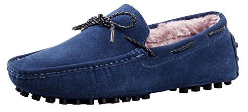 Mocassins Élégant Sur Glisser Hommes Bleu Velours Conduite Chaussures Mocassins Qyy De Décontractés 9388w Plus Salabobo Les zxX1Paqg