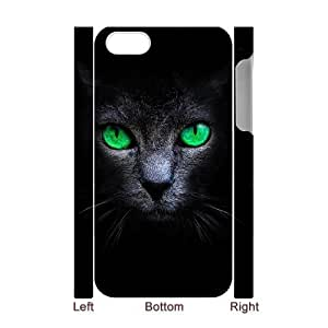 Black Cat Customized 3D Case for Iphone 4,4S, 3D New Printed Black Cat Case