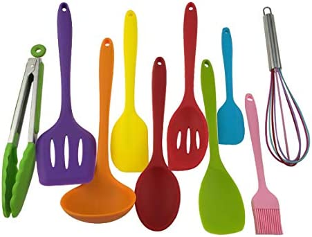 Colorful Silicone Utensils Heat Resistant Non Stick