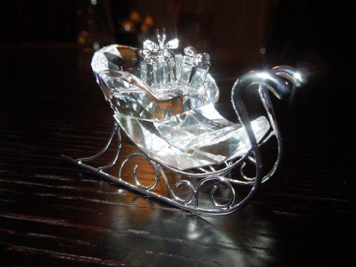 (Swarovski Sleigh Rhodium Ornament)