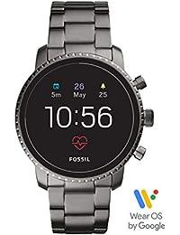 Men's Gen 4 Explorist HR Heart Rate Stainless Steel Touchscreen Smartwatch, Color: Smoke Grey (Model: FTW4012)