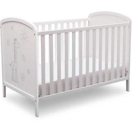 Delta Children ModBaby 3-in-1 Convertible Crib, Bianca with Animal Motif