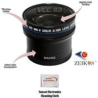 0.18x Wide Angle Fisheye Lens With Macro lens For The Sony Alpha NEX-3, NEX-5, NEX 3N, NEX 5N, NEX-C3, NEX-C3K, NEX-7 Digital Camera