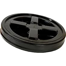 Set of 6 Gamma Seal Lids by Gamma2 (Black) provides airtight / leakproof seal & fits 5 gallon buckets (also fits 3.5 - 7 gallon buckets) by Gamma2