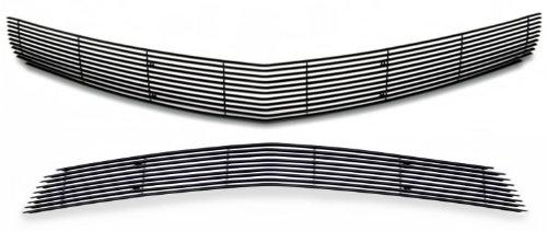 Fits 2010-2013 Chevy Camaro LT/LS/RS V6 Phantom Black Billet Grille Grill Insert Combo # C61027H