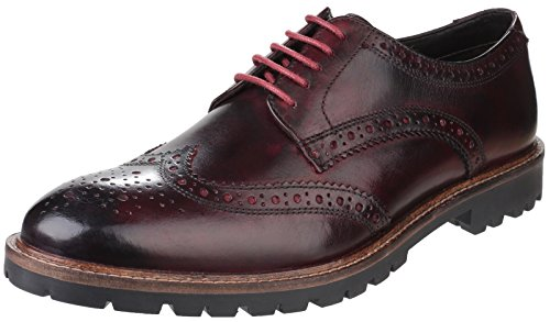 Scarpe Uomo London Bordo Brouge Stringate Base Trench Washed 4pq8xg4URw