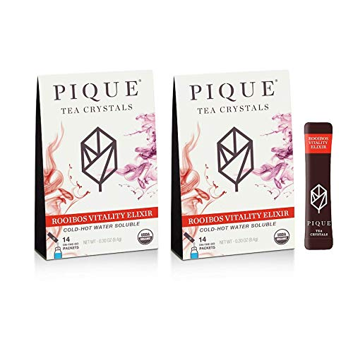 Pique Tea Organic Rooibos Vitality Elixir - Gut Health, Fasting, Calm - 28 Single Serve Sticks (Pack of 2) by PIQUE