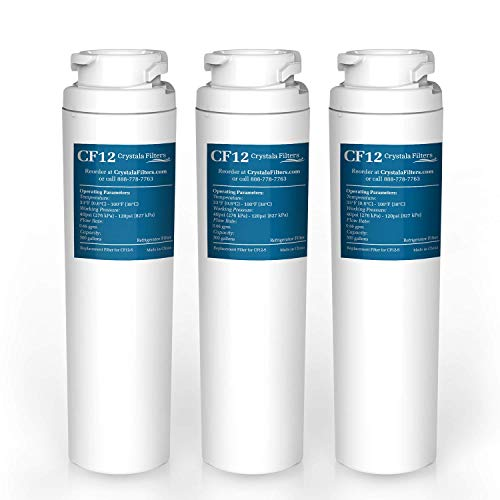 Refrigerator Water Filter Replacement GE MSWF 101820A, 101821B, 101821-B by Crystala Filters, Pack of 3