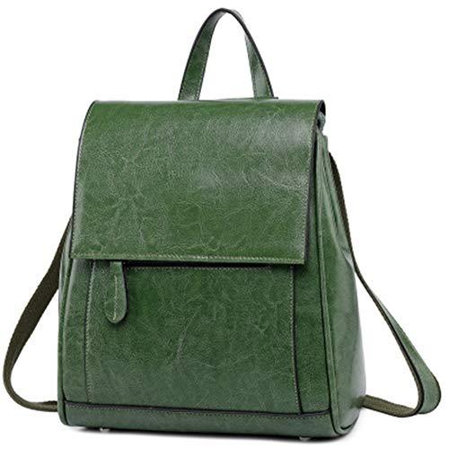 Meet Da Zaino Donna Pelle Borsa green Per Green In Viaggio Pu 6rFg6wCqR