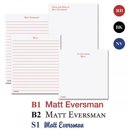 Primary Personalized Notepad Set- 100 Page Notepads Peronalized with Your Name, Set of 4