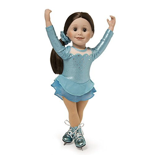 [Maplelea Icy Cool Skating Dress for 18 Inch Dolls] (Ice Skating Dress Costumes)