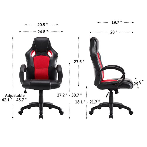 ... Acepro Office Chair High Back PU Leather Computer Desk Chair Ergonomic  Racing Gaming Chair Desk Swivel ...