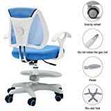Gfbyq Children's Study Chair Sitting Posture Correction With Gravity Wheel Backrest Seat Height Can Adjustable Computer Game Seat Stool (color : Blue, Size : No armrests)