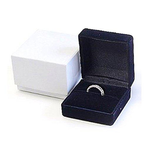 【ノーブランド品】リングケース / アクセサリー ケース / 指輪 入れ(ブラックカラー)