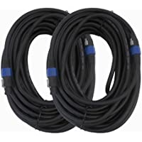 Seismic Audio - F12S100 (Pack of 2) - 100 Foot Speakon to Speakon PA/DJ Speaker Cable - 4 Conductor - 12 Guage