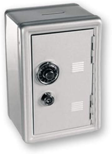 DKT Hucha Metal. Caja Fuerte con Combinación y Llave. Dakota.18 x 12 x 10 cm, 1 Unidad (Gris): Amazon.es: Hogar