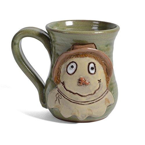 MudWorks Pottery Scarecrow Mug, Green